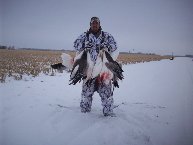 Awesome snow goose hunt in the snow, 2011